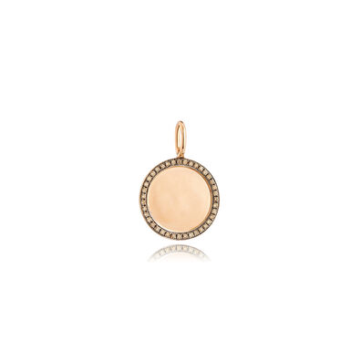Mythology 18ct Rose Gold Pavé Diamond Disc