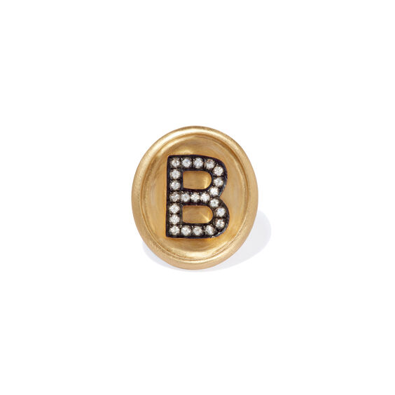 18ct Gold Diamond Initial B Face | Annoushka jewelley