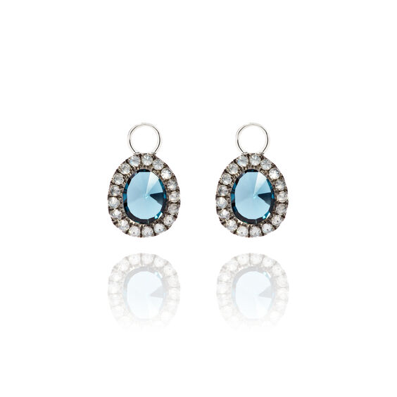 Dusty Diamonds 18ct White Gold Topaz Mini Earring Drops | Annoushka jewelley