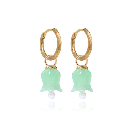 18ct Gold Jade Tulip Earrings | Annoushka jewelley
