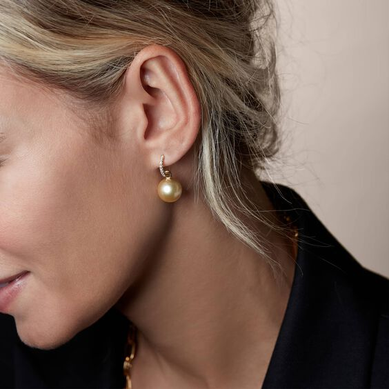 18ct Gold South Sea Pearl Earring Drops | Annoushka jewelley