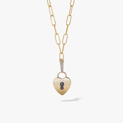18ct Gold Love Heart Charm Necklace