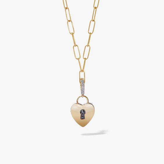 Mythology 18ct Gold Love Heart Charm Necklace