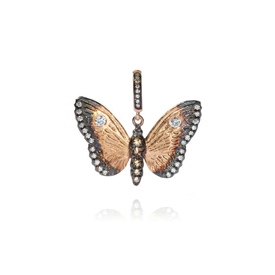 Mythology 18ct Rose Gold Diamond Butterfly Pendant | Annoushka jewelley