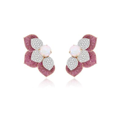 Sutra Sapphire & Diamond Earrings