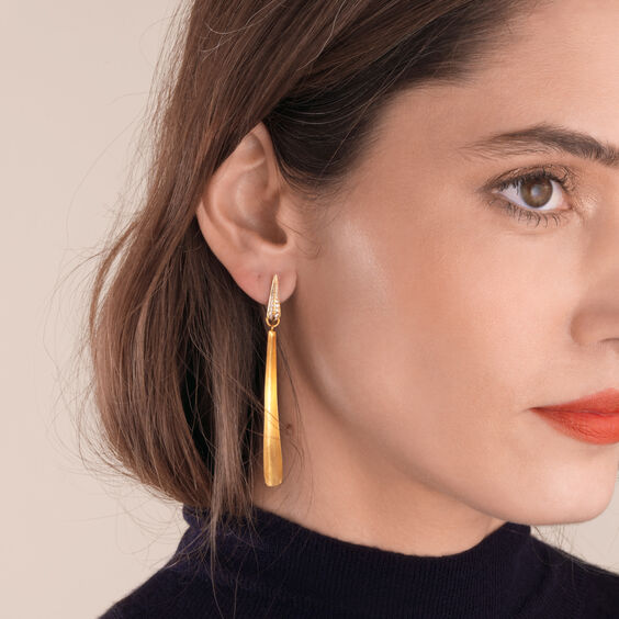 18ct Gold Diamond Palm Earrings | Annoushka jewelley