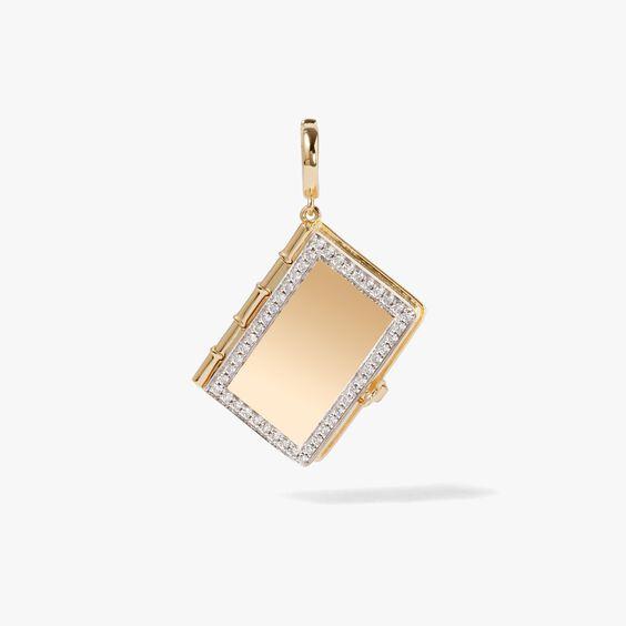 Mythology 18ct Gold Diamond Book Locket Charm