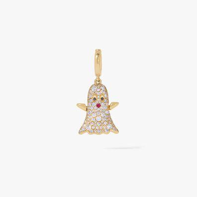 Mythology 18ct Gold Diamond Ghost Charm