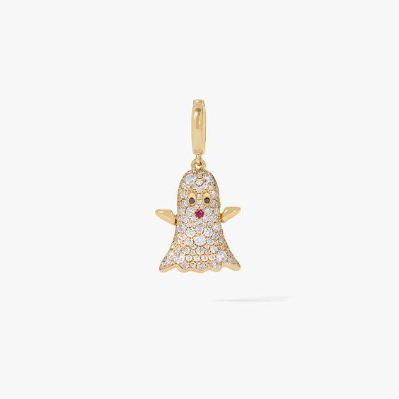 Mythology 18ct Gold Diamond Ghost Charm   Annoushka jewelley