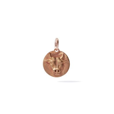Mythology 18ct Rose Gold Taurus Pendant