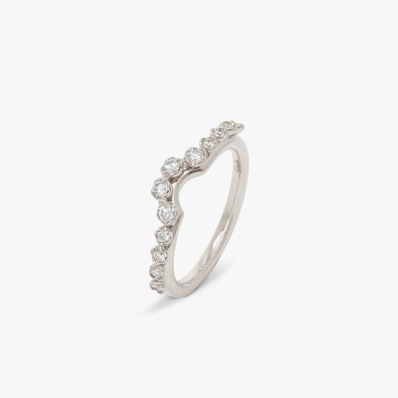 Marguerite 18ct White Gold Side Ring
