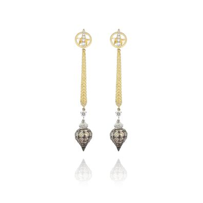 Touch Wood 18ct Gold Diamond Earrings