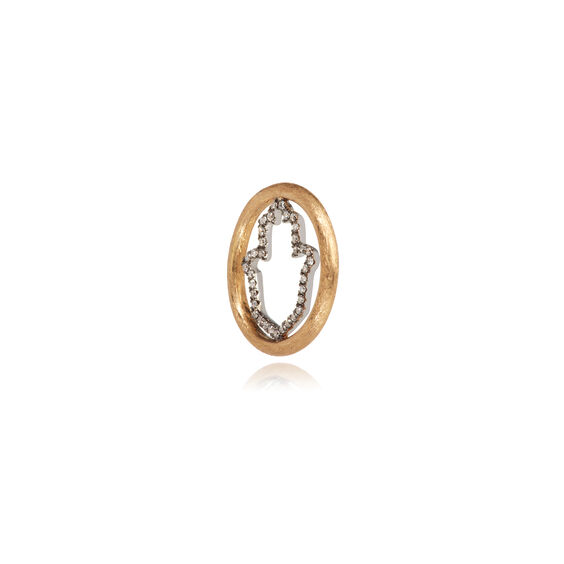 18ct Gold Diamond Hand of Fatima Hoopla | Annoushka jewelley