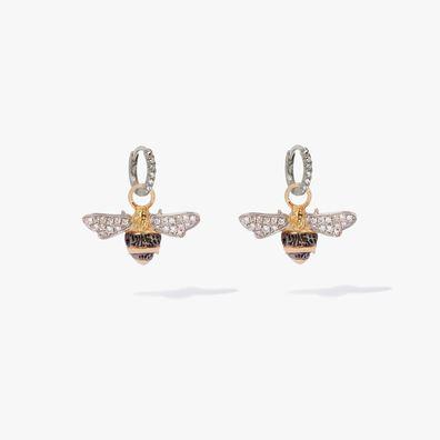 Mythology 18ct White Gold Diamond Bee Earrings