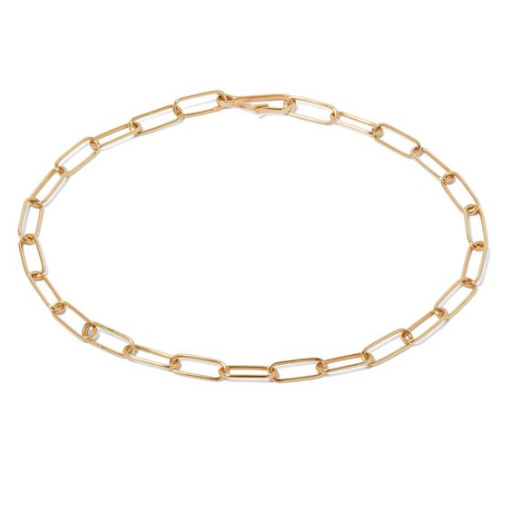 14ct Gold Mini Cable Chain Large Bracelet | Annoushka jewelley