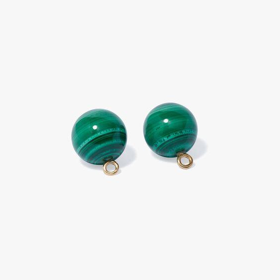 A Single Set of Malachite 18ct Gold Cufflinks | Annoushka jewelley