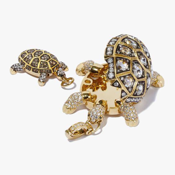 Mythology 18ct Gold Diamond Baby Turtle Pendant | Annoushka jewelley