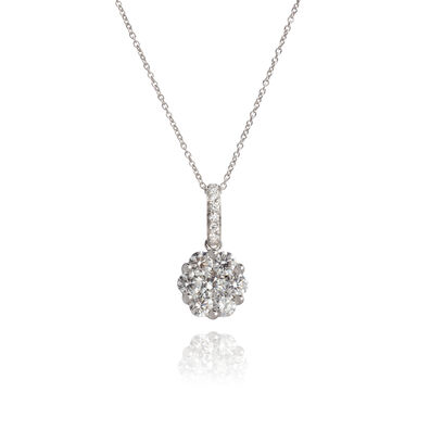 Daisy 18ct White Gold 0.69ct Diamond Necklace
