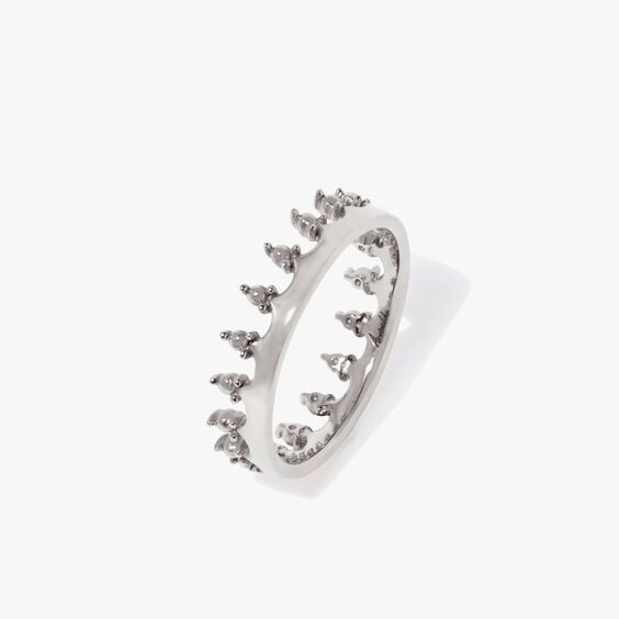 Crown 18ct White Gold Ring