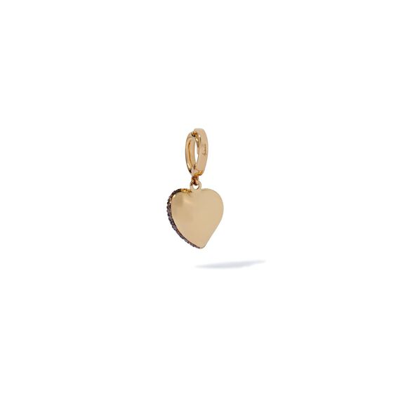 18ct Gold Brown Diamond Vintage Heart Charm | Annoushka jewelley