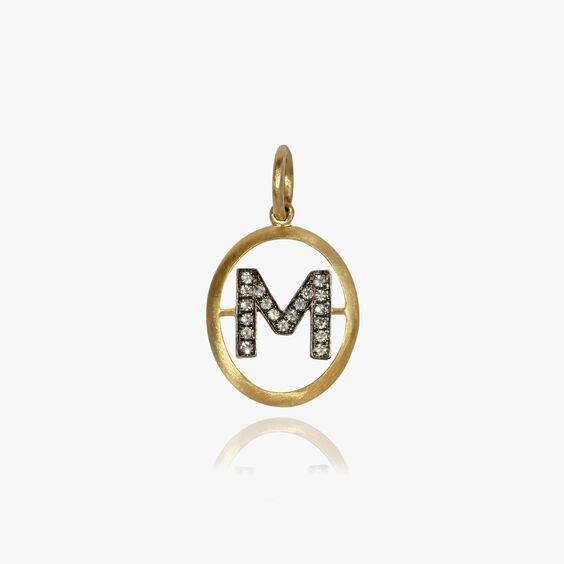18ct Gold Diamond Initial M Pendant | Annoushka jewelley