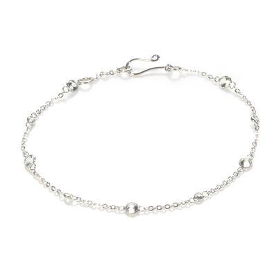 Nectar 18ct White Gold White Sapphire Bracelet