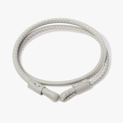 41cms Cream Leather Bracelet