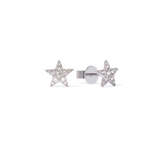 Love Diamonds 18ct White Gold Diamond Star Studs | Annoushka jewelley