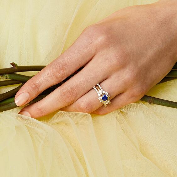 Marguerite 18ct Tanzanite & Diamond Engagement Ring | Annoushka jewelley