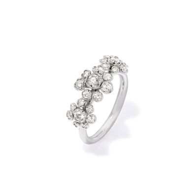 Marguerite 18ct White Gold Diamond Triple Ring