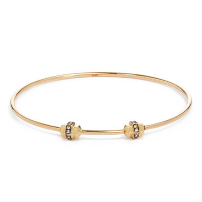 Mythology 18ct Gold & Sapphire Medium/Large Charm Bangle