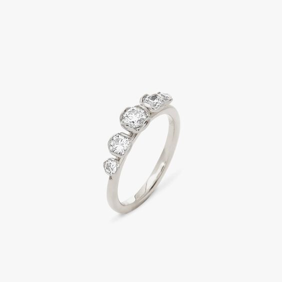 Marguerite 18ct White Gold Five Stone 0.25ct Engagement Ring