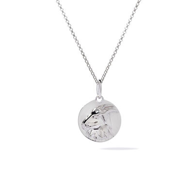 Mythology 18ct White Gold Capricorn Necklace