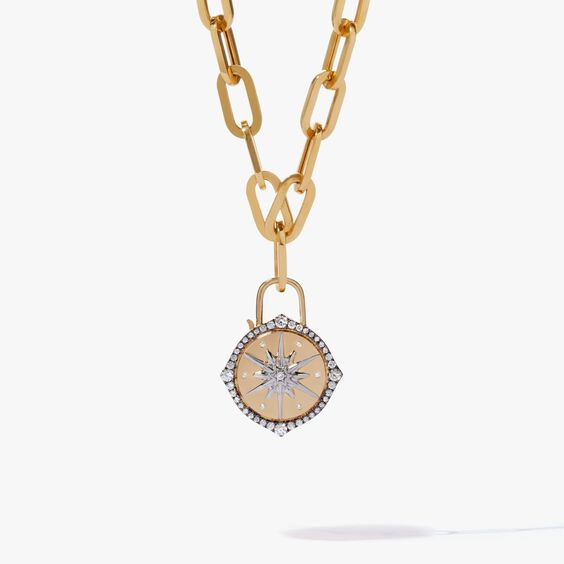 Lovelock 18ct Gold Cable Chain Star Charm Necklace