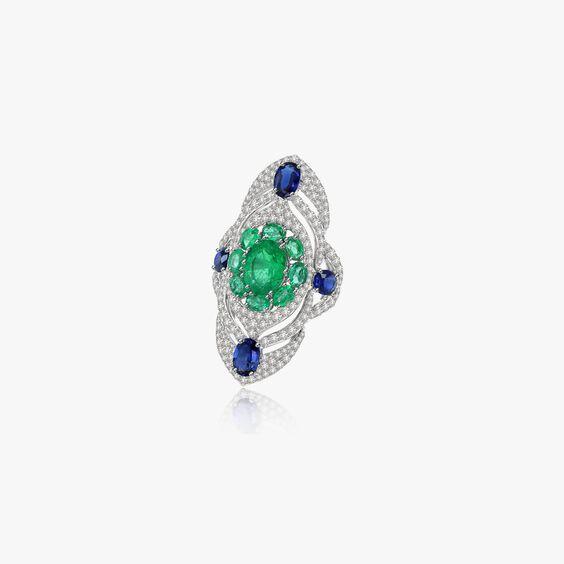 Sutra Emerald & Diamond Ring   Annoushka jewelley