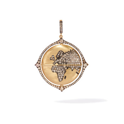Mythology 18ct Gold Diamond Spinning Globe Pendant