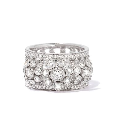 Marguerite 18ct White Gold Triple Ring Stack