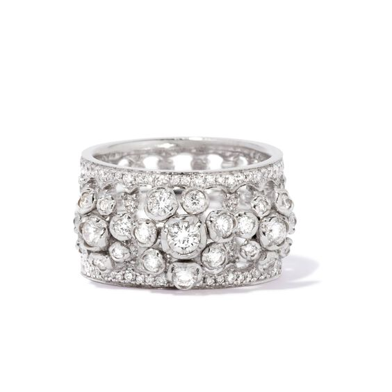 Marguerite 18ct White Gold Triple Ring Stack | Annoushka jewelley