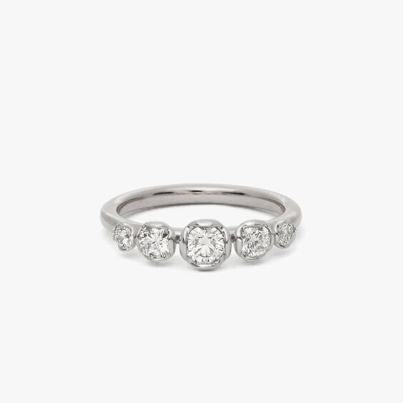 Marguerite 18ct White Gold Five Stone 0.25ct Engagement Ring   Annoushka jewelley