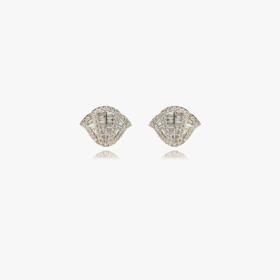 Flamenco 18ct White Gold 0.72 ct Diamond Stud Earrings | Annoushka jewelley