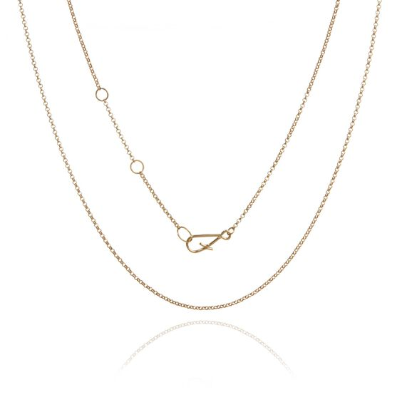 18ct Gold Fine Belcher Chain | Annoushka jewelley