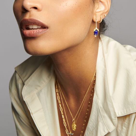 18ct Gold & Lapis Lazuli Tulip Earrings