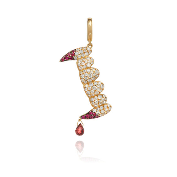 "18ct Gold Diamond ""Release The Bats"" Charm"