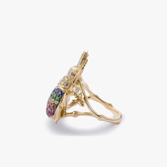Mythology 18ct Gold Rainbow Beetle Ring   Annoushka jewelley