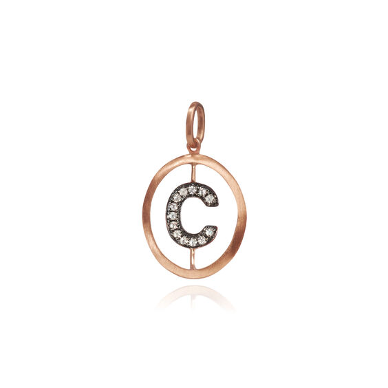 18ct Rose Gold Initial C Pendant | Annoushka jewelley