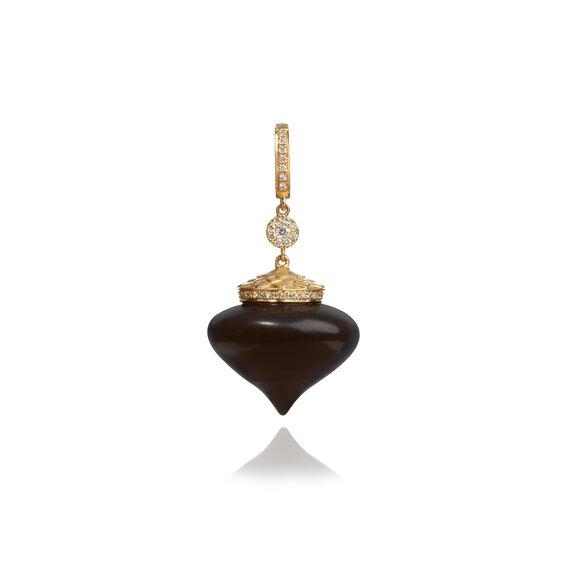 Touch Wood 18ct Gold Diamond Large Ebony Charm | Annoushka jewelley
