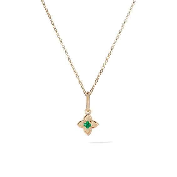 Tokens 14ct Gold Emerald Necklace | Annoushka jewelley