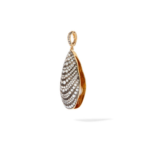 18ct Gold Diamond Mussel Pendant | Annoushka jewelley