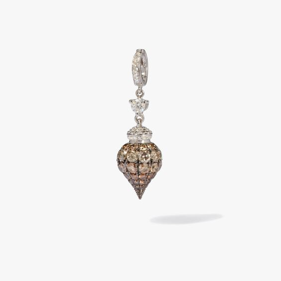 Touch Wood 18ct White Gold Diamond Charm | Annoushka jewelley