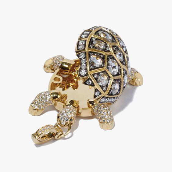 Mythology 18ct Gold 4.02 ct Diamond Turtle Locket | Annoushka jewelley